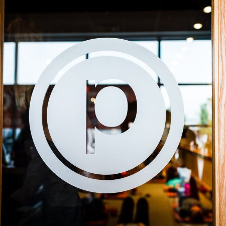 Pure Barre Logo on door