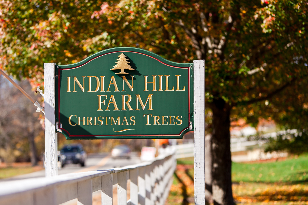 sign of Indian Hill Farm