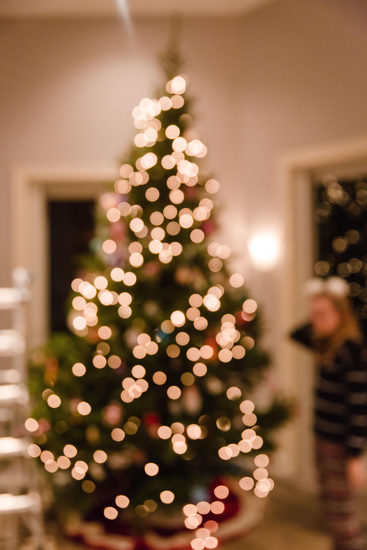 blurry lights on Christmas tree