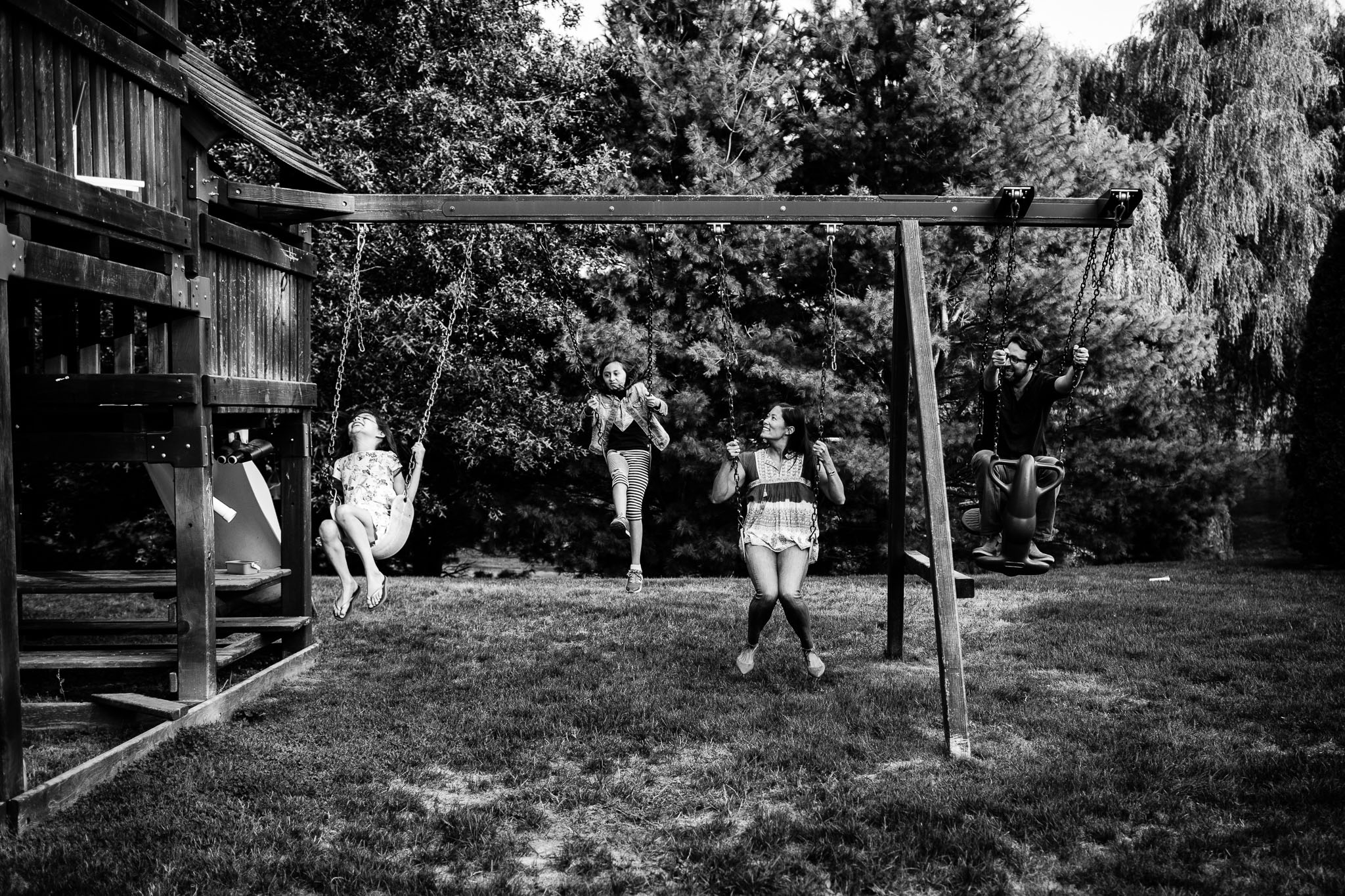 family on swingset